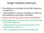 sanger method continued1
