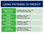 using patterns to predict