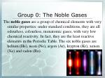group 0 the noble gases