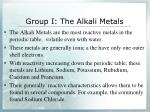 group i the alkali metals
