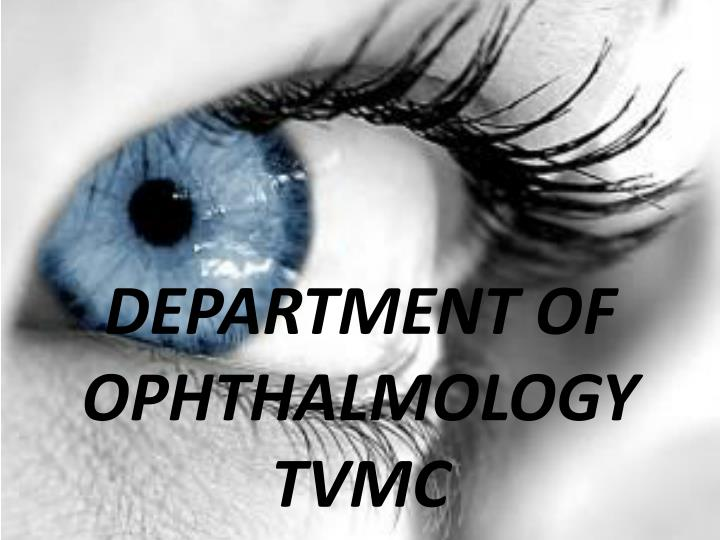 department of ophthalmology tvmc n.