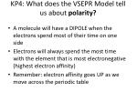kp4 what does the vsepr model tell us about polarity