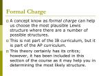 formal charge