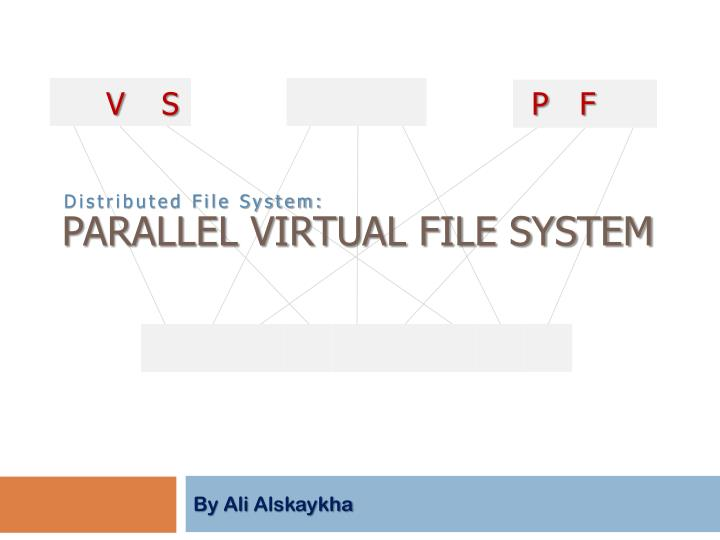parallel virtual file system n.