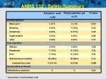 anrs 132 safety summary