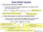 state belief update