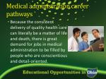medical administration career pathways