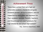 achievement press