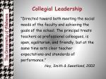 collegial leadership