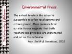 environmental press