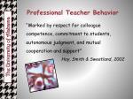 professional teacher behavior