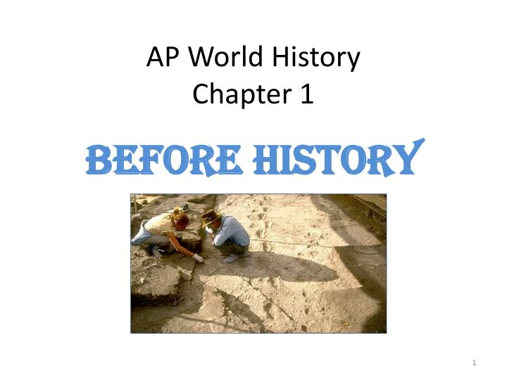 ap world history chapter 1 n.