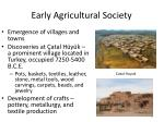 early agricultural society
