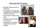 neandertal peoples