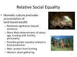 relative social equality