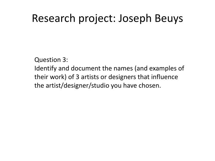 research project joseph beuys