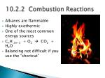 10 2 2 combustion reactions