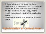 hybridization of central atom