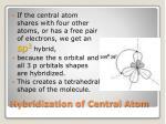 hybridization of central atom4