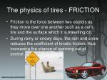 the physics of tires friction