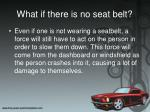 what if there is no seat belt