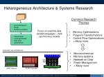 heterogeneous architecture systems research
