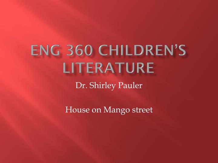 eng 360 children s literature n.
