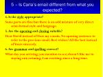 5 is carla s email different from what you expected2