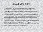 about mrs allen