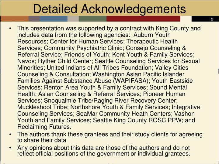 Detailed acknowledgements
