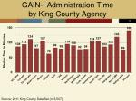 gain i administration time by king county agency