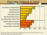 past year violence crime