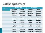 colour agreement