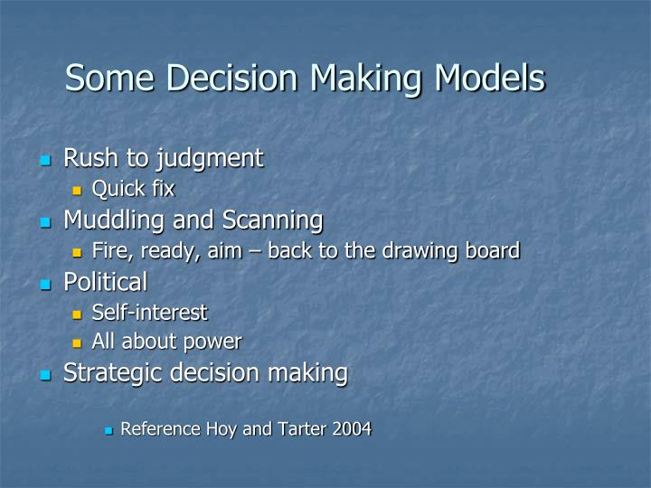 standard models of decision making Are able to formulate decision-making problems into an optimization model have developed good analytical skills for decision making in business standard laptop, ampl modelling language with solvers cplex, gurobi and minos (licenses.