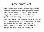 governance cont