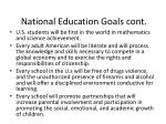 national education goals cont