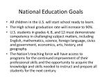 national education goals