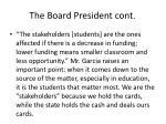 the board president cont