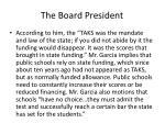 the board president