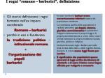 i regni romano barbarici definizione
