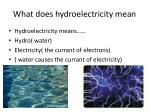 what does hydroelectricity mean