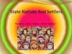 state natives and settlers