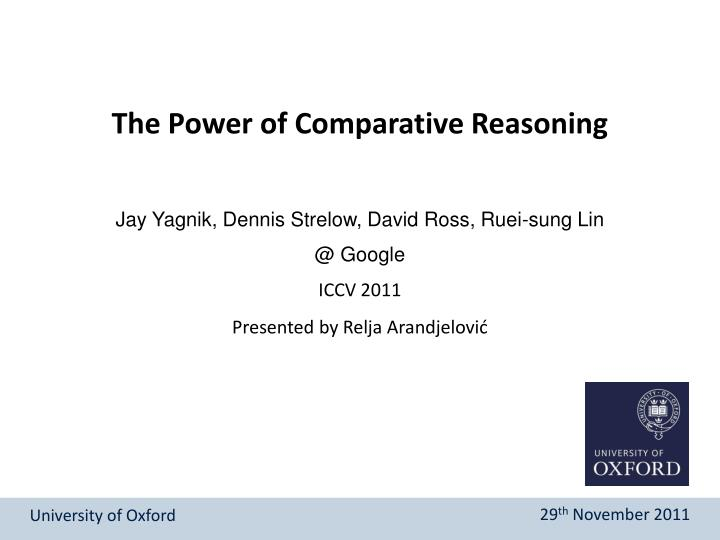 The Power of Comparative Reasoning