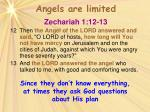 angels are limited