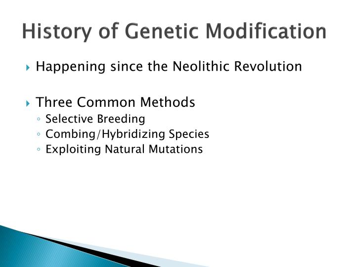 History of genetic modification