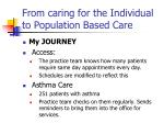 from caring for the individual to population based care1