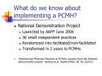 what do we know about implementing a pcmh