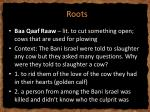 r roots