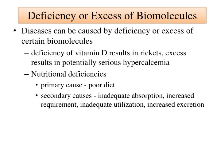 Deficiency or Excess of