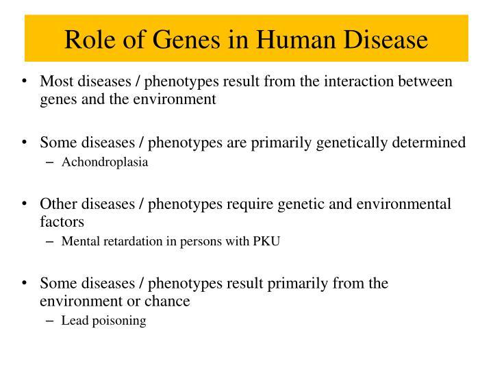 Role of Genes in Human Disease